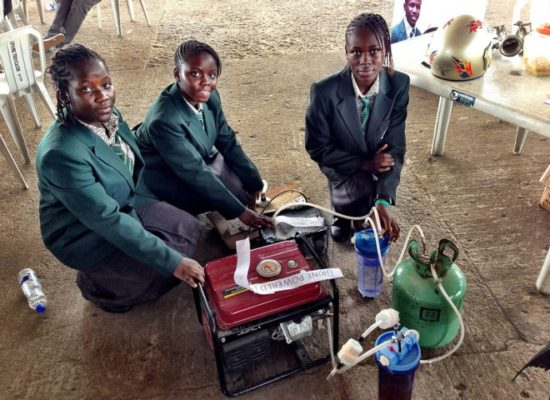 Four young African girls have invented a generator that runs on urine
